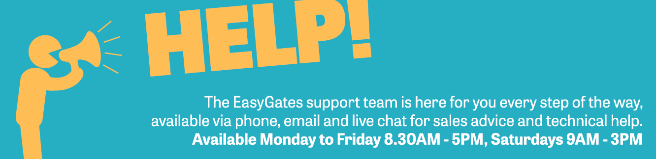The EasyGates support team is here for you every step of the way.